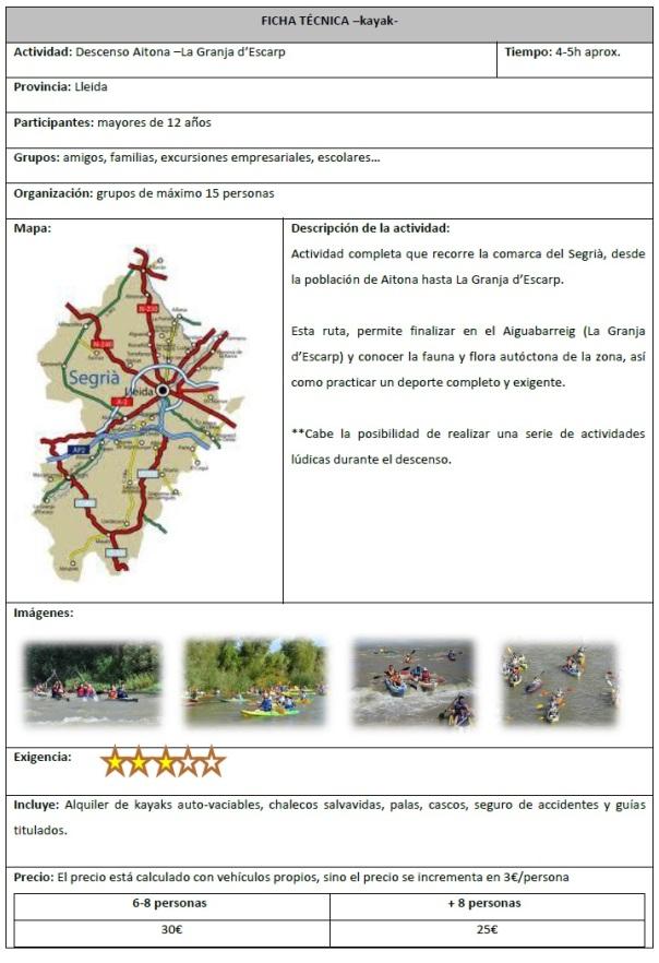 descenso Aitona - La Granja d'Escarp