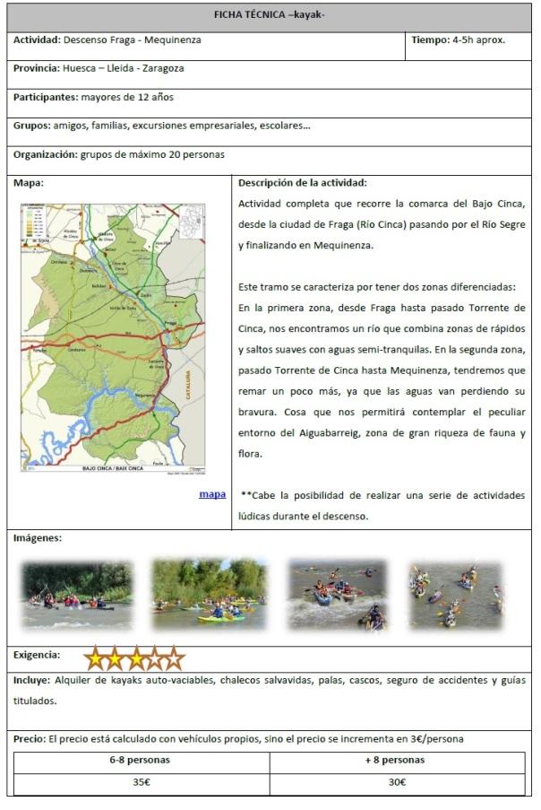 descenso Fraga - Mequinenza