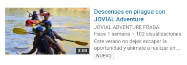 web vídeo descensos JOVIAL